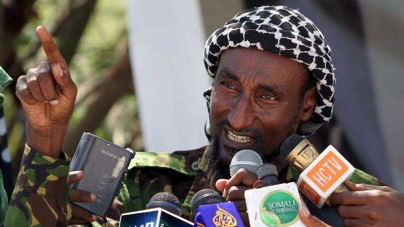 Mohamed Mohamud, chef Chebab et cerveau présumé de l'attaque, ici lors d'une conférence à Modagiscio en Somalie.