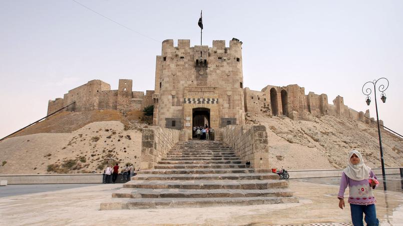 Entrée de la citadelle d'Alep prise en photo le 28 août 2008, trois ans avant que la guerre en Syrie n'éclate.
