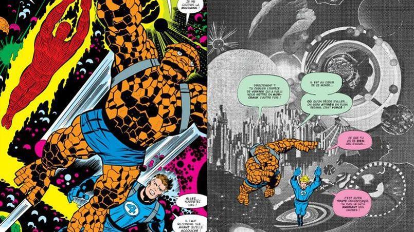 À la fin des années 1960, Kirby mutliplie les collages dans les récits des «Quatre Fantastiques»