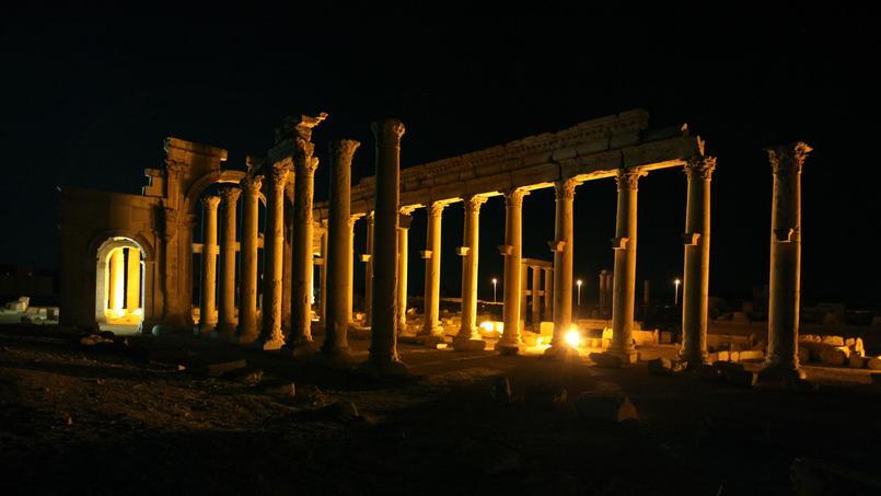 L'ancien decumanus, l'axe est-ouest de Palmyre.