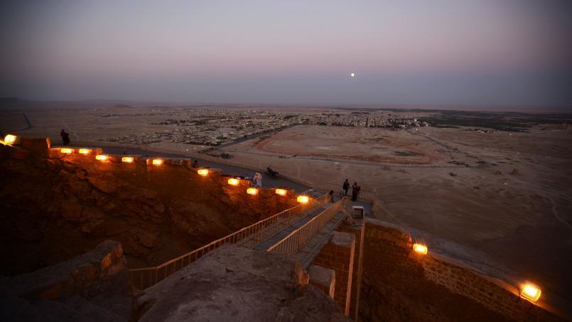 La ville moderne de Tadmur depuis le château Qalat ibn Maan.