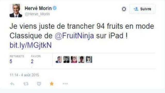 Hervé Morin, lui aussi, plaide pour la fin des notifications depuis ce tweet involontaire.