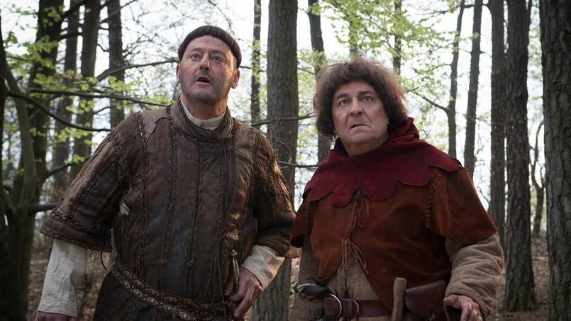Jean Reno et Christian Clavier dans le rôle de Godefroy de Montmirail et Jacqouille la fripouille.