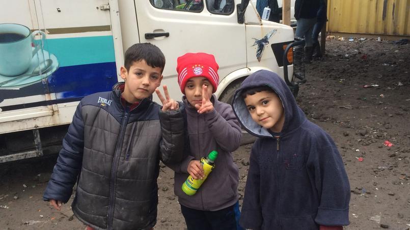 Trois enfants Kurdes.