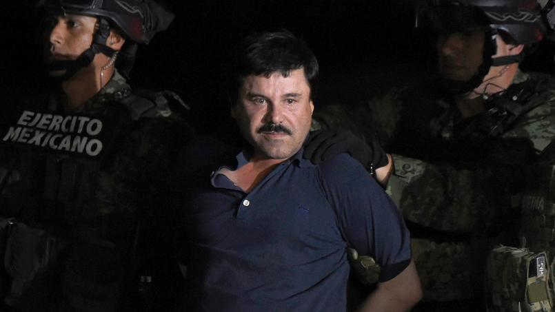 «El Chapo» lors de son arrestation.