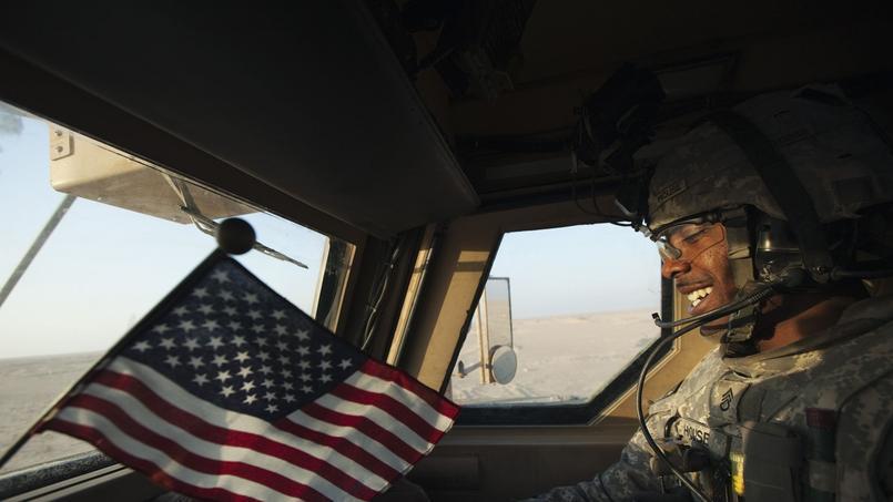 Le sergent Prince House de la 1ère division de cavalerie s'apprête à quitter l'Irak, le 18 décembre 2011.