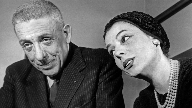 La cantatrice Denise Duval aux côtés du compositeur Francis Poulenc.