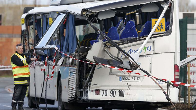 Le bus accidenté.