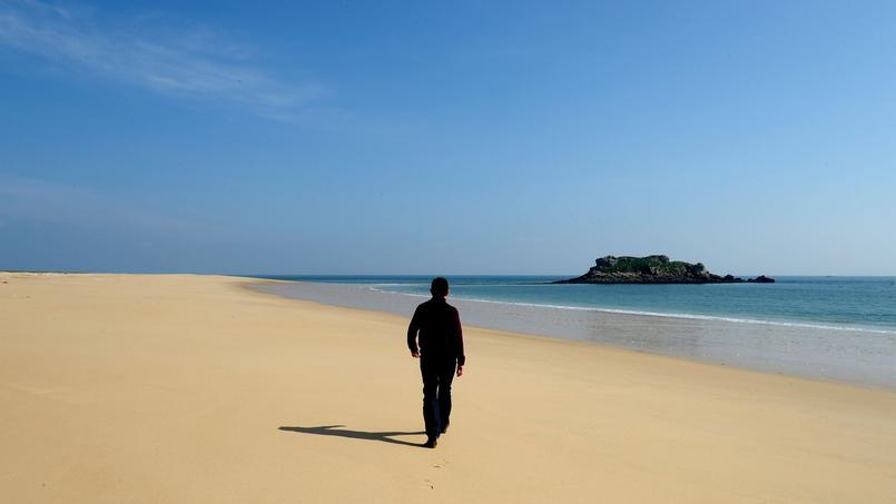 L'envoûtant désert de Houat à marée basse. Ici, hors saison, on se sent hors du temps.