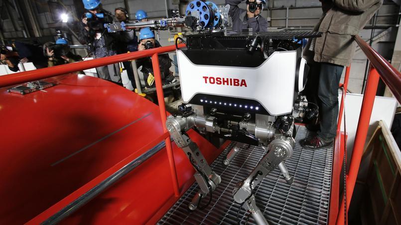 Le robot développé par Toshiba doit pouvoir effectuer des recherches au cœur de la centrale.
