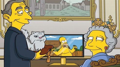 La reine Elizabeth II dans un épisode des «Simpson»