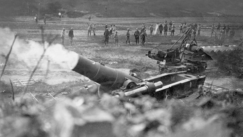 Canon français durant la bataille de la Somme.