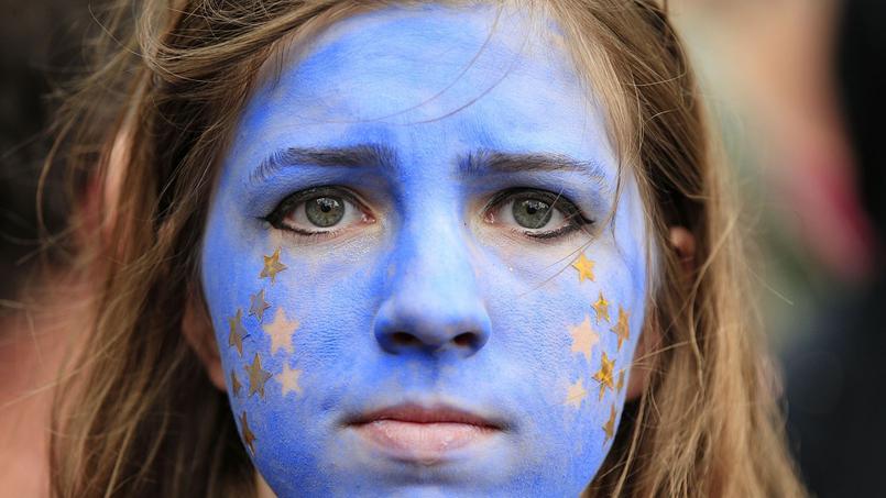 Une partisane du «Remain» durant la Marche pour l'Europe. Beaucoup de participants de la manifestation espèrent pouvoir faire changer les choses tant que l'article 50 n'est pas activé.
