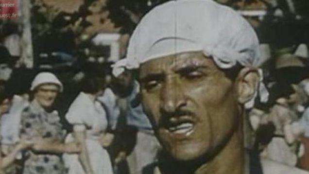 1956 à Melbourne. Ecrasé par le soleil de plomb en Australie, Alain Mimoun se couvre d