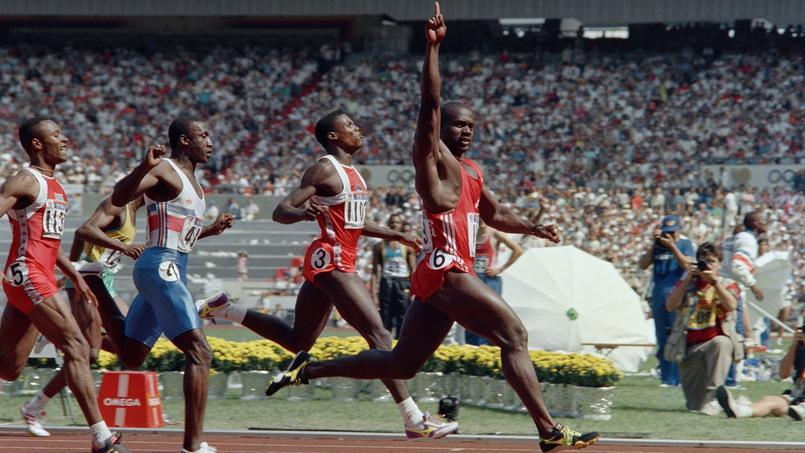 1988 à Séoul. La machine Ben Johnson écrase la finale du 100 m. Le Canadien lève le bras quelques mètres avant d