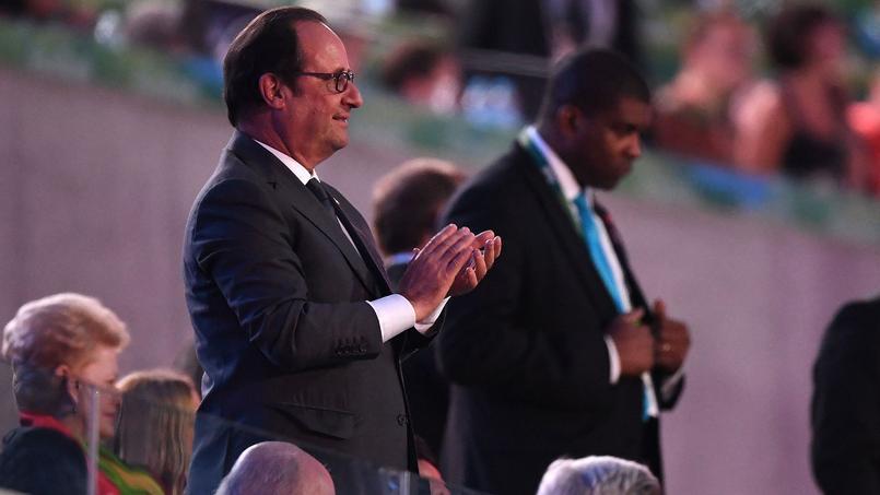 Lors de la cérémonie d'ouverture des Jeux olympiques de Rio.