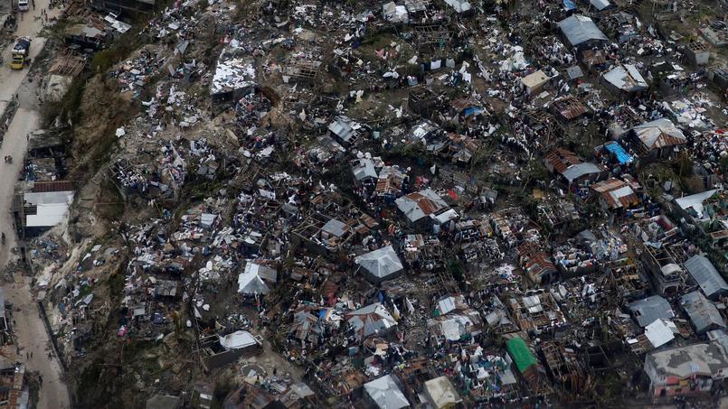 La ville de Jérémie, vue du ciel.
