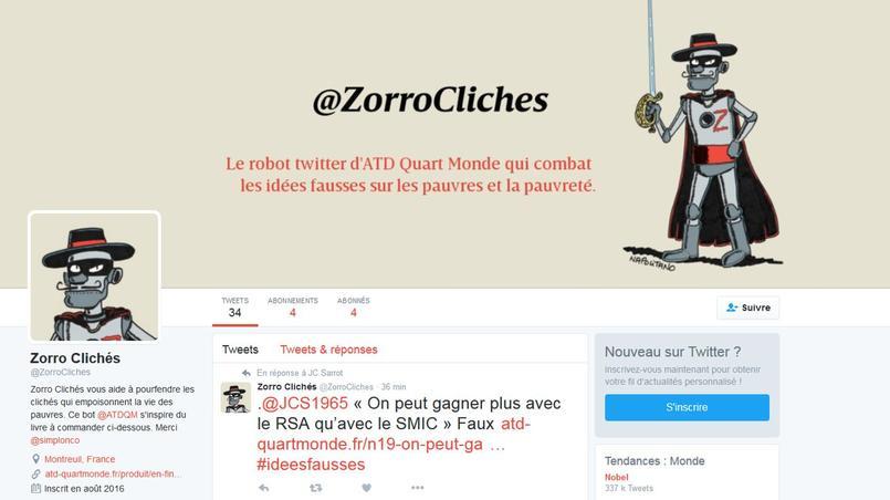 Capture d'écran de @ZorroClichés. Photo DR.