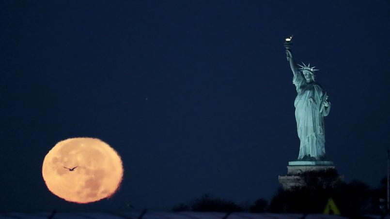 La super lune vue aux États-Unis.