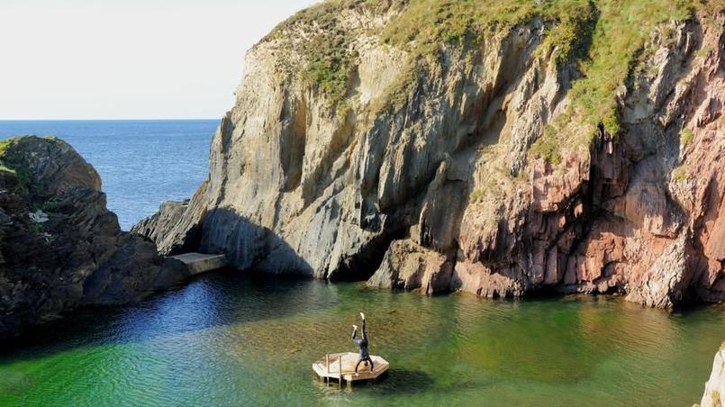 La piscine naturelle, sur l'île de Burg. © Olivier Roques-Rogery.