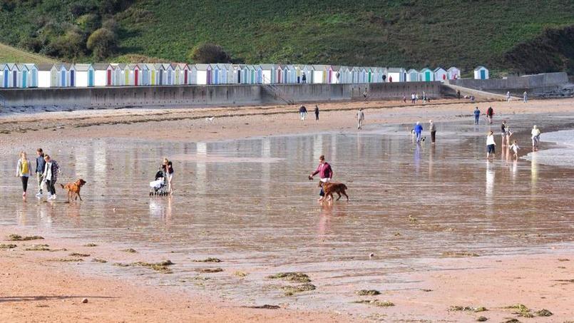 La plage de Goodrington à marée basse. © Olivier Roques-Rogery