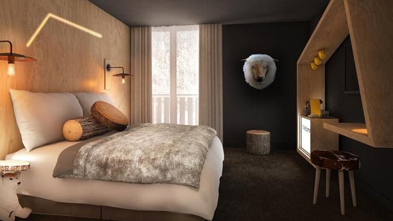 Une chambre du Refuge des Aiglons. © DR
