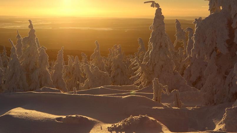 L'Allemagne a connu sa nuit la plus froide de l'hiver, comme ici, à Brocken, où le point culminant de Saxe-Anhalt est recouvert d'un manteau de neige.