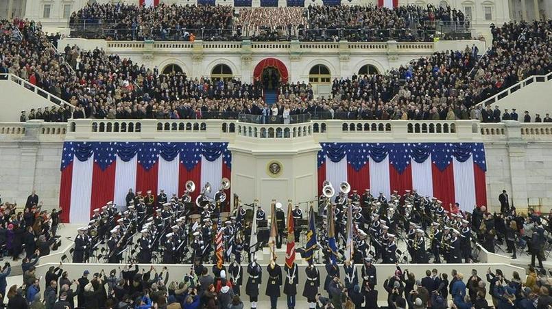 Près de 800 000 personnes sont venues applaudir Donald Trump lors de son investiture, le 20 janvier 2017, à Washington.
