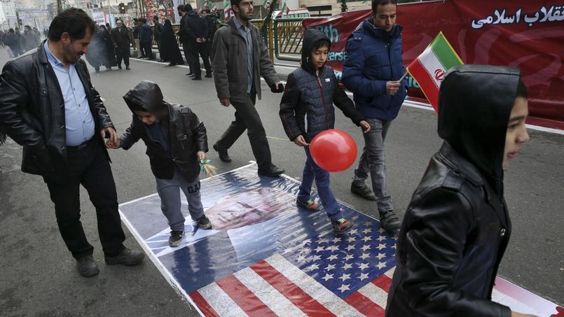 Dans les rues de Téhéran ce vendredi.