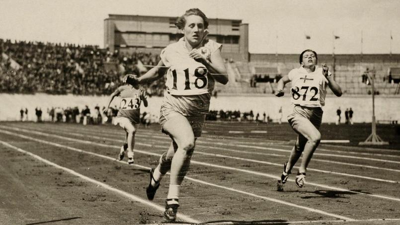Georgette Gagneux, ici lors des éliminatoires du 100 mètres, ne sera finalement pas sur le podium des Jeux Olympiques de 1928 à Amsterdam. Elle mourra trois ans plus tard à l'âge de 23 ans.