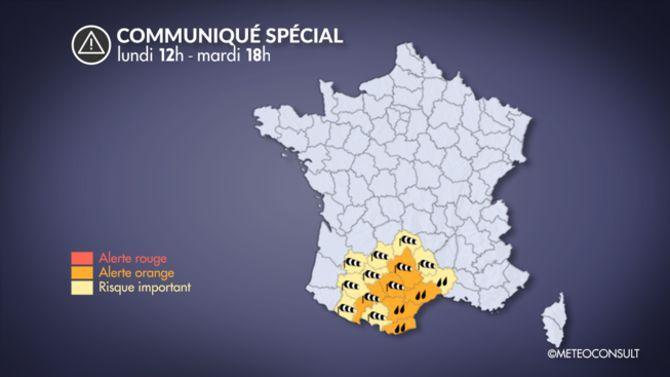 21 départements en vigilance orange — Pluie verglaçante
