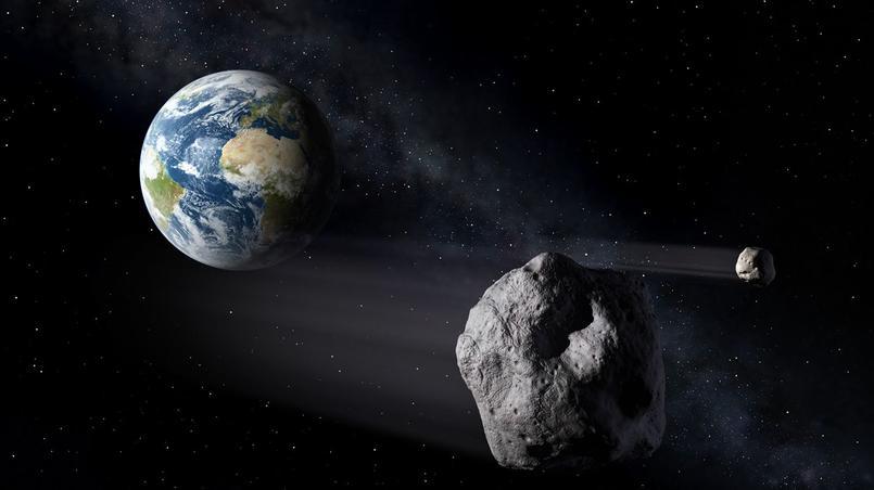 Vue d'artiste d'astéroïdes proches de la Terre.