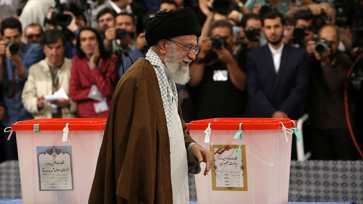 Le Guide suprême iranien, l'Ayatollah Ali Khamenei, a voté ce vendredi.