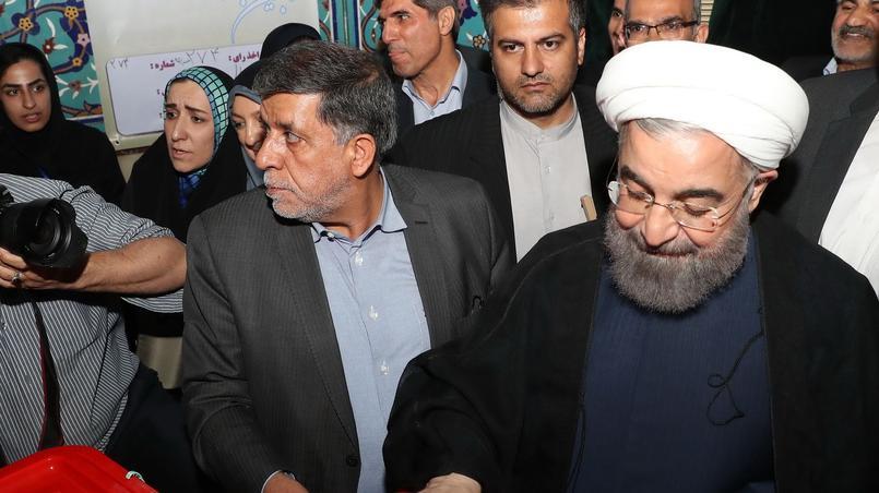 Le président Hassan Rohani a voté ce vendredi à Téhéran.