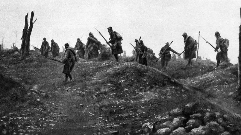 Offensive du 24 octobre 1916 pour la reprise du fort de Douaumont par les soldats français pendant la bataille de Verdun.
