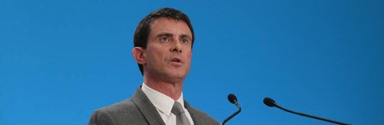 Manuels Valls, lors d'une conférence de presse. (Crédit photo: Sébastien Soriano/ Le Figaro).