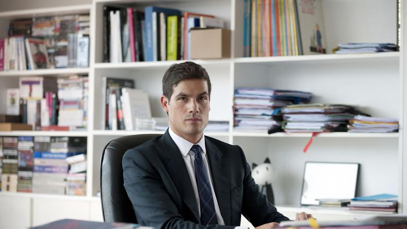 Mathieu Gallet dans son bureau de l'INA, qu'il a présidé avant Radio France.