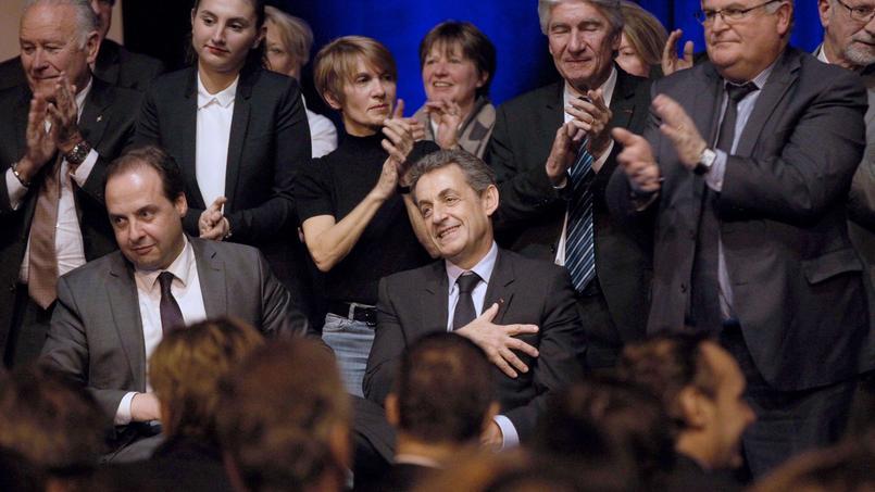Jean-Christophe Lagarde et Nicolas Sarkozy, jeudi soir, à Perpignan.