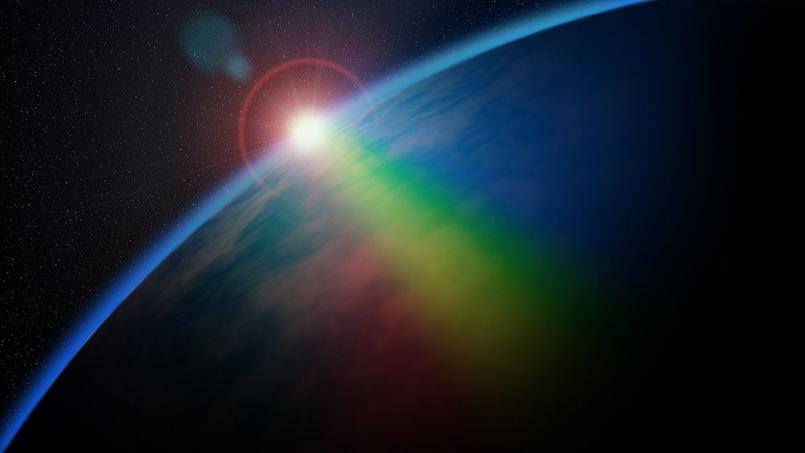 Un arc-en-ciel recouvre la Terre. (Crédit: pixabay)
