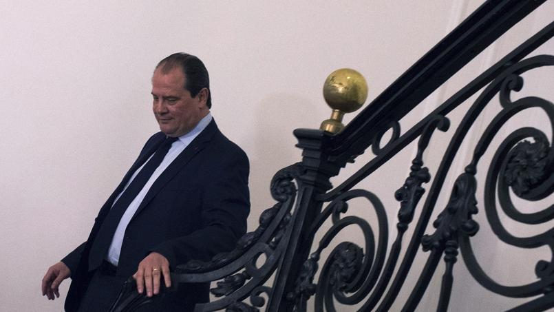 Le premier secrétaire du PS, Jean-Christophe Cambadélis, dimanche au siège du parti.