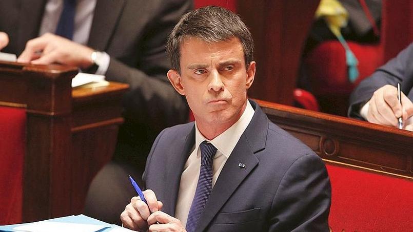 Manuel Valls à l'Assemblée nationale. (Crédit: Lucien Lung /Le figaro)