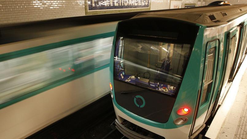 Une rame de métro de la RATP, à Paris.