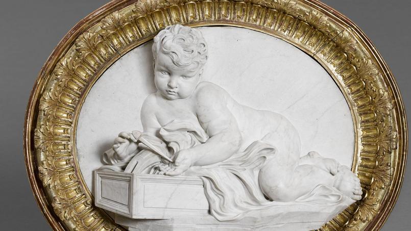 <i>Le Christ enfant</i> (détail) par Le Bernin.