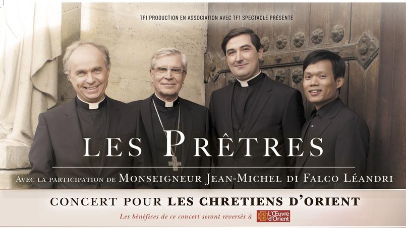 L'affiche non censurée annonçant le concert du groupe Les Prêtres.