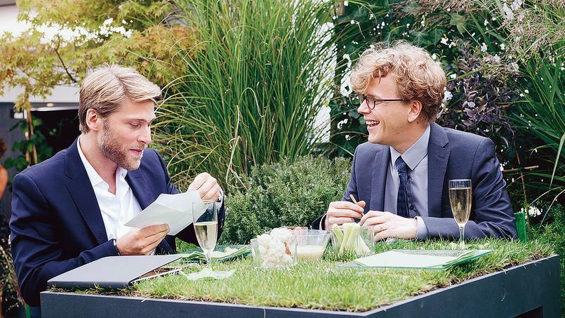 Tom Dingler aux côtés d'Alex Lutz dans <i>LeTalent demesamis</i>.
