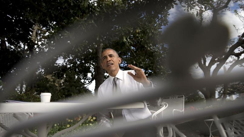 Barack Obama, le 16 avril, dans les jardins de la Maison-Blanche.