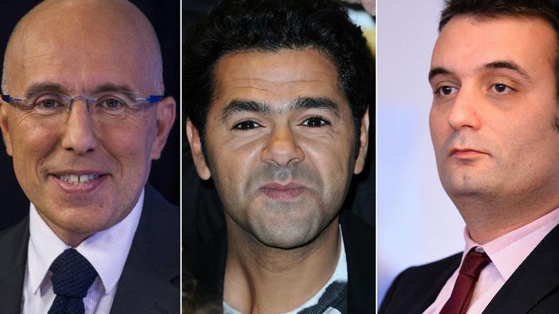 Eric Ciotti (UMP), Jamel Debbouze et Florian Philippot (FN)