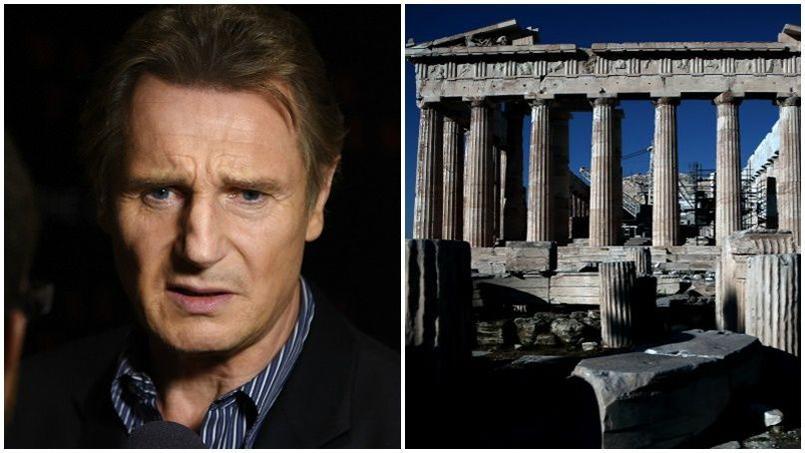 «Les Anglais doivent renvoyer les marbres en Grèce, point final. Qu'ils les ramènent à l'endroit où ils les ont pris», Liam Neeson à la télévision grecque à propos des frises du Parthénon.