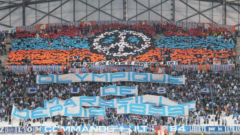 La tribune du stade Vélodrome avant le match face à Lorient. Crédit: www.sw87.com