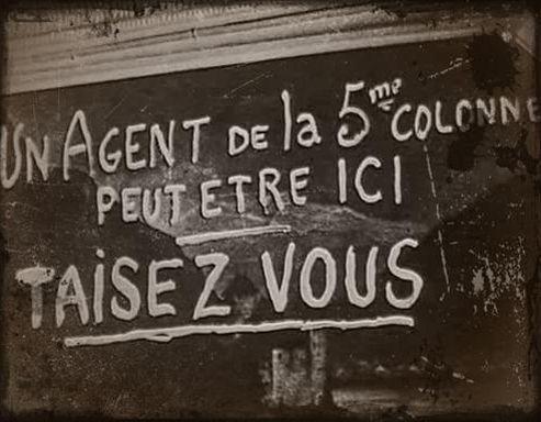 Affiche de la seconde guerre mondiale en France